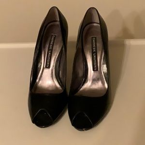 Peep toe pumps - barely worn